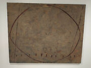 Largejoseph Amar 1954-2001 Mixed Media Abstract Painting Entitled Oval 1978
