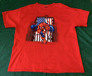 Vtg 2001 Marvel Spider-man American Flag Graphic Tee Delta Tag Size X-large Xl