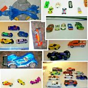 Lot Of Unsorted Hot Wheels Cars -some Vintage Hot Wheels Cars Set 35+trick Track