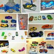 Lot Of 38 Hot Wheels Some Vintage Cars Set+trick Track, Motorcycle Ramp 2 Cycles