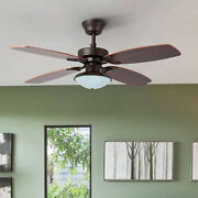42 4 Blade Ceiling Fan Light And 50w Reversible Motor For Bedroom And Dining Room