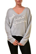Wildfox Womenand039s Best Worst Clemente Wgya37 00e Sweater Grey Xs Rrp Andpound304 Bcf89