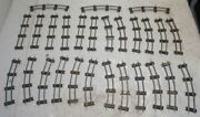 Lot Of 27 Pieces American Flyer S Scale Track - Straight And Curve