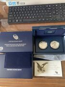 2012 American Eagle Two-coin Silver Proof Set Us Mint Ogp San Francisco -