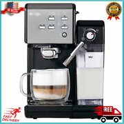 Mr. Coffee One Touch Coffee House Espresso And Cappuccino Machine Dark Stainless