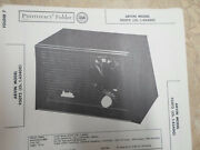 Arvin 950t2 - Schematic And Parts Id - Sams Photofact - Tube Radio
