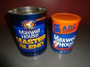 Lot Of 2 Vintage Maxwell House Coffee Cans Master Blend Automatic Drip