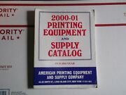 Vintage 2000-01 Printing Equipment And Supply Catalog Letterpress Type