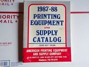 Vintage 1987-1988 Printing Equipment And Supply Catalog Letterpress Type