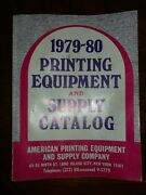 Vintage 1979-1980 Printing Equipment And Supply Catalog Letterpress Type