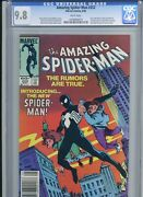 Amazing Spider-man 252 Newsstand - Cgc 9.8 - 1st Appearance Of The Black Costume
