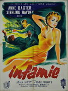 Anne Baxter Sterling Hayden The Come On Russell Birdwell 1956 24x32