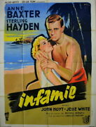 Anne Baxter Sterling Hayden The Come On Russell Birdwell 1956 47x63
