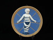 Italian Swaddled Baby Child Jesus Wall Pottery Medallion After Della Robbia