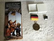 Hummel Bronze Medallion -1990 Ringing In Year Of Freedom With Ribbon And Box