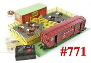 American Flyer Pw 771 Operating Stockyard W/car Controller And Box1953-56