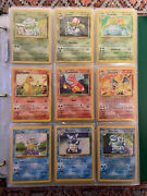 1999 Pokandeacutemon Complete Set. Base Jungle And Fossil Sets.all 48 Holos Included