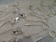 Vintage French Silver-plated 12 Snail Clamps Christofle Silversmith