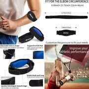 Cambivo 2 Pack Tennis Elbow Strap, Elbow Brace With Compression Pad, Arm Brace B