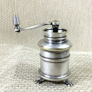 Christofle Silver Plated Antique Pepper Mill Grinder Hand Crank 19th Century