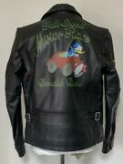 Avirex Disney Collaboration Donald Leather Riders Jacket Limited M Size
