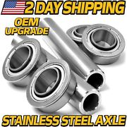2 Kits Stainless Steel Axle And Bearing Conversion Rz 3016 3019 4216 4219 4221