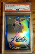 2016 Pete Alonso Rc Bowman Chrome Draft Blue Ref /150 Ny Mets Rookie Psa9 Bgs9.5