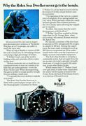 1970s Rolex Sea Dweller Double Red Diving Watch Diver Photo Ad New Poster 24x35