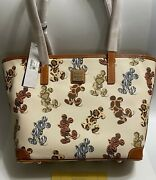 Nwt Genuine Dooney And Bourke Disney Parks Mickey Mouse Animal Print Actual Tote