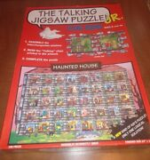 1994 Buffalo Games The Talking Jigsaw Puzzle Jr. Haunted House 100 Complete
