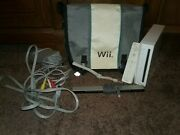 Nintendo Wii Console With Controller, Cords, Sensor Bar, And Carrying Case