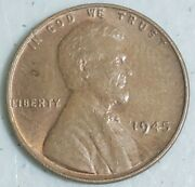 1945 Us Wheat Penny Lincoln Cent From Coin Collection Set 1945-p
