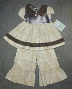 Persnickety Baby Girls 2 Piece Set Tunic / Dress And Pants - Size 12 Months -nwt