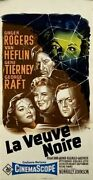 Gene Tierney Ginger Rogers George Raft Black Widow 1954 French Poster 16x32