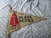 Wwii Usa Canada 1st Special Service Force Black Devils Pennet Flag A