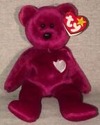 Ty Beanie Baby Rare 1998 Valentina Bear Collectible With Errors