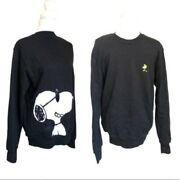 180 Stereo Vinyls X Peanuts Black Pullover Crew Neck Limited Edition Sweater M