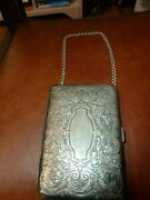 Antique Edwardian Silver Compact Case Purse Mothers Day Gift