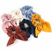 1 Pc Women Spring Summer Solid Headband Vintage Knot Elastic Hair Bands Soft Sol