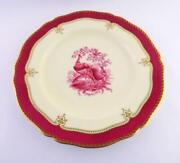 Ovington Brothers Spode Copeland China Plate Peacock Pheasants Motif 12.5 In Vg