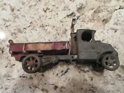 Antique Cast Iron Mack Dump Toy Truck Made By Arcade 12andprime