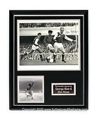 George Best And Don Howe Hand Signed Luxury Framed Football Soccer Display And Coa