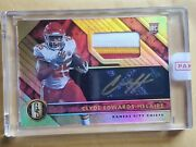 2020 Panini Gold Standard Prime Jersey 1of1 Clyde Edwards Helaire Auto 25/49