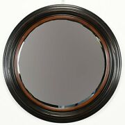 Round Mirror By Milling Road For Baker, 1980s Mid Century Modern Mcm