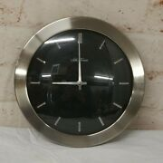 Seth Thomas Black And Silver Chrome 12andrdquo Wall Clock Battery Operated