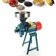110v 3000w Electric Grinder Wet Dry Feed Flour Mill Cereals Grain Corn Wheat Us