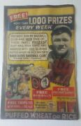 Babe Ruth Quaker Cereal Prize Club Store Ad Poster 1934 Yankees