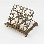 Antique Brass Bible Holder Or Cookbook Stand, Collapsible