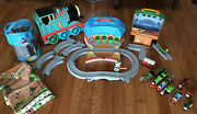 Lot 50+ Thomas The Train Die Cast Take Along Roundhouse Sawmill Tracks Mat