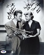 Kirk Douglas And Doris Day Signed 8x10 Photo. Authenticated Psa/dna L33007